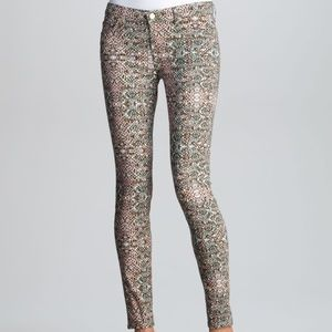 7 For All Mankind 7FAM Skinny Jeans Mosaic Print